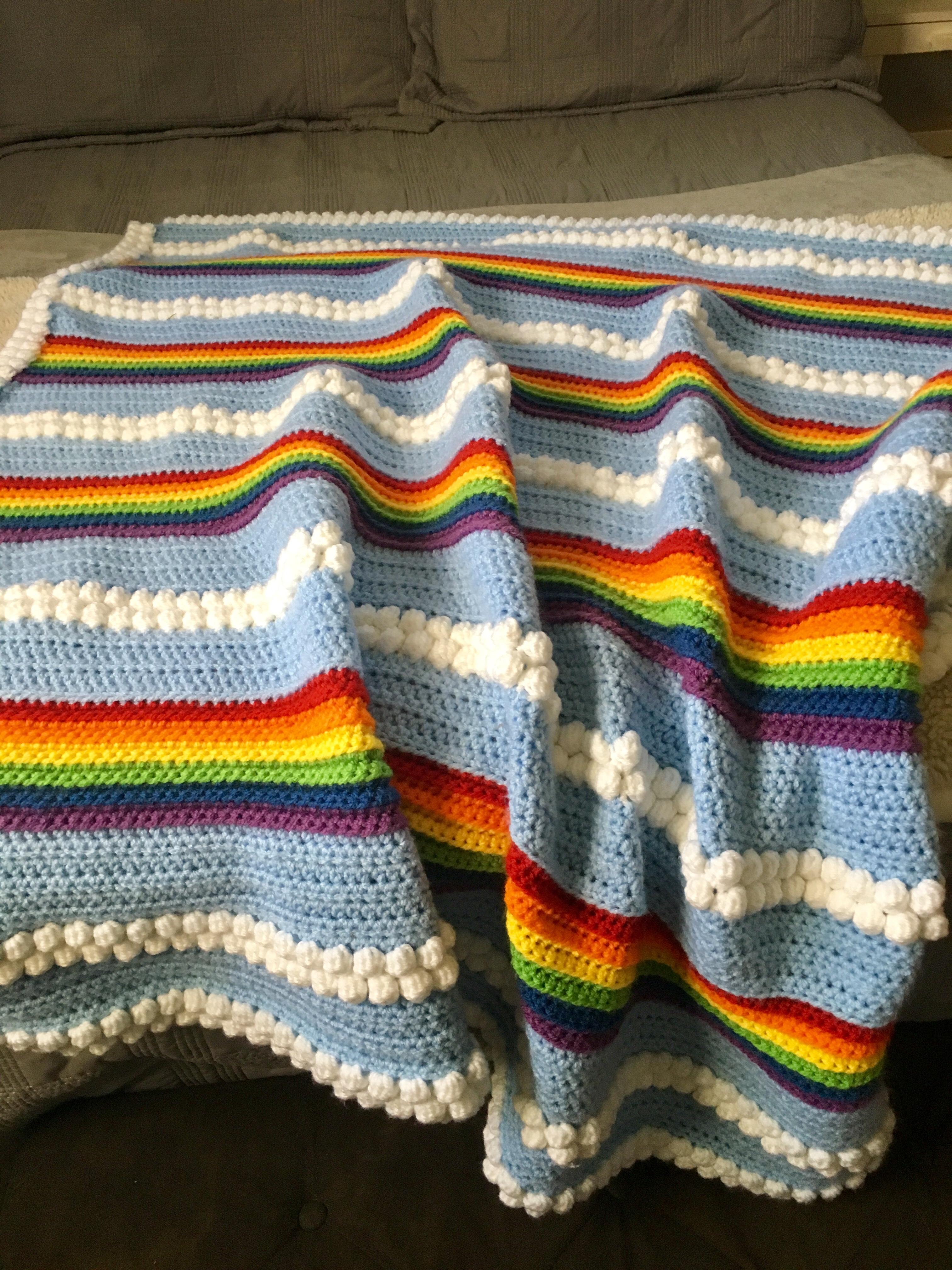 Rainbow Sky Baby Blanket Becca S Crochet Journey